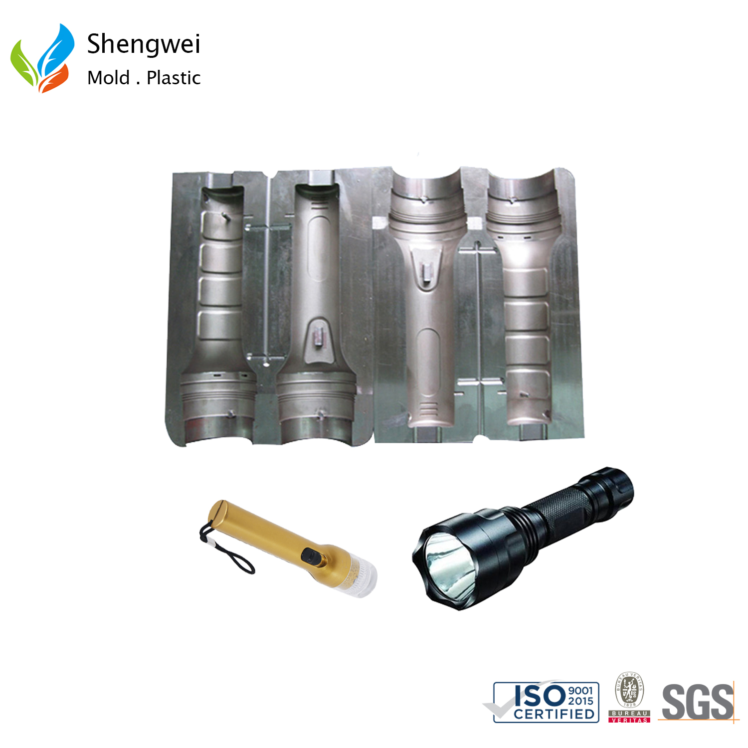 flashlight plastic housing mould